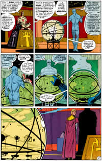 Dave Gibbons used the same template for every page in Watchmen.
